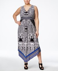 Inc International Concepts Plus Size Printed Handkerchief Hem Dress Only At Macy's Ace Paisley