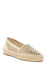 Frye Lee A Line Perforated Slip On Platform Flat Metallic