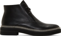 Alexander Wang Black Zipper Trim Emmett Boots