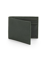 Cole Haan Slimfold Leather Wallet Forest