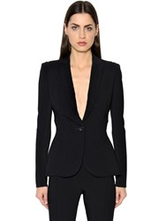 Antonio Berardi Single Breasted Cady And Jersey Jacket
