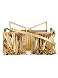 Sara Battaglia 'Lady' Clutch Metallic