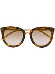 Bottega Veneta Round Sunglasses Brown