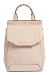 Rag And Bone Small Pilot Ii Leather Backpack Purple Rose Dust