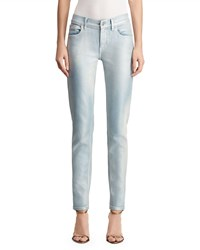 Ralph Lauren 400 Matchstick Bleached And Metallic Coated Jeans Light Blue