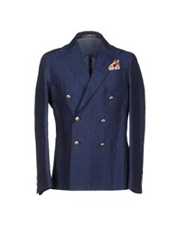 Paoloni Suits And Jackets Blazers Men Dark Blue
