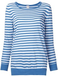 Massimo Alba Striped Jumper Blue