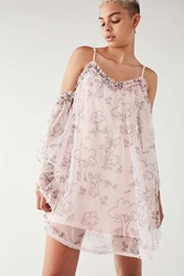 Nicopanda Uo Tavi Cold Shoulder Dress Pink