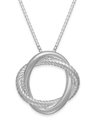 Giani Bernini Love Knot Pendant Necklace In Sterling Silver