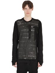 11 By Boris Bidjan Saberi Printed Insert On Cotton Sweatshirt