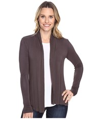 Mod O Doc Rayon Spandex Jersey Cardigan Dark Nickel Women's Sweater Metallic