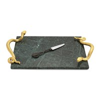 Michael Aram Rainforest Cheese Board And Knife