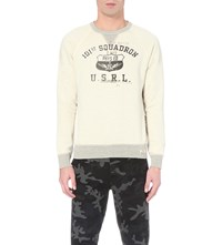 Ralph Lauren Varsity Print Cotton Blend Sweatshirt Black
