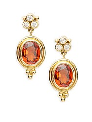 Temple St. Clair Cl Color 18K Yellow Gold Classic Dangle And Drop Earrings