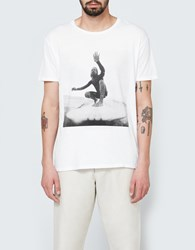 Quality Peoples Surfer Photo Crew T Shirt White