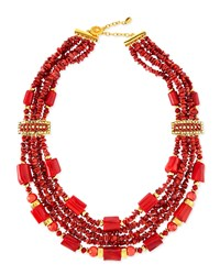 24K Gold Chunky Coral Necklace Jose And Maria Barrera