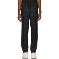 Alexander Wang Black Plaid Tailored Trousers