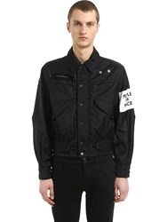 Oamc Captain Nylon Jacket W Patch Black