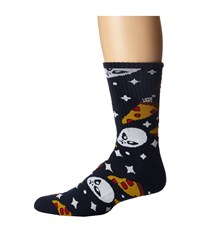 Vans Aliens N Pizza Sock 1 Pair Pack Aliens And Pizza Men's Crew Cut Socks Shoes Multi