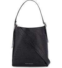 Kurt Geiger London Penelope Leather Hobo Bag Black