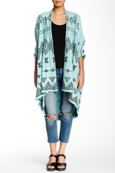Biya Embroidered Open Front Cardigan Multi