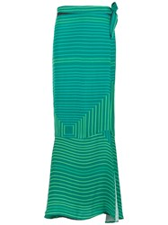 Amir Slama Long Printed Skirt Green