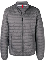 Geox Quilted Bomber Jacket Grey