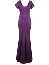 Zac Posen Julianna Gown Pink And Purple
