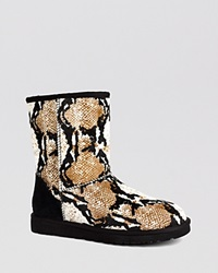 Ugg Australia Cold Weather Boots Classic Short Reptile Print Black