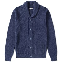 Save Khaki Eco Ragg Shawl Cardigan Blue
