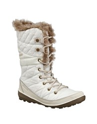 Columbia Heavenly Omni Heat Faux Fur Mid Calf Winter Boots White