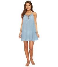 Roxy Softly Love Solid Dress Cover Up Blue Shadow Swimwear