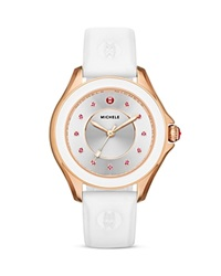 Michele Cape Topaz Studded Watch 40Mm Gold