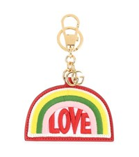 Gucci Rainbow Embroidered Leather Keychain Multicoloured