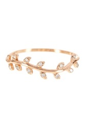Adam Marc 14K Rose Gold Vermeil Leaf Vine Band Metallic