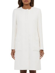 Ted Baker Lace Trim Coat White