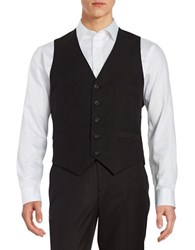 Kenneth Cole Reaction Button Front Vest Black Patent