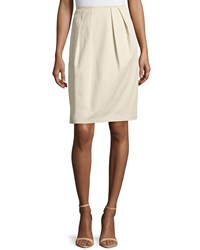 Lafayette 148 New York Pleated A Line Skirt Khaki
