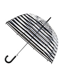 Shedrain Striped Auto Open Bubble Umbrella Black