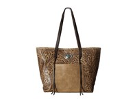 American West Santa Barbara Large Shopper Tote Sand Chocolate Tote Handbags Brown