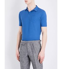 Slowear Ice Overhead Cotton Jersey Polo Shirt Sky