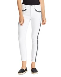Ralph Lauren Embroidered Skinny Crop Jeans In White