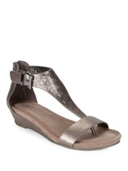 Kenneth Cole Reaction Great Gal 3 Wedge Sandals Gunmetal