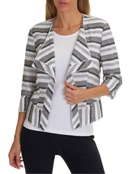 Betty Barclay Textured Stripe Jacket White Black