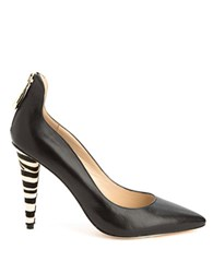 Carolinna Espinosa Waffle Leather And Hair Calf Pumps