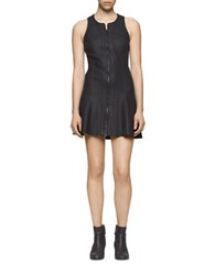 Calvin Klein Jeans Texture Printed Ponte Fit And Flare Dress Black
