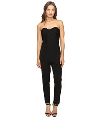 Adelyn Rae Jumpsuit With Lace Bodice Black Women's Jumpsuit And Rompers One Piece