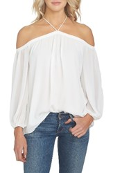 1.State Women's Off The Shoulder Chiffon Blouse