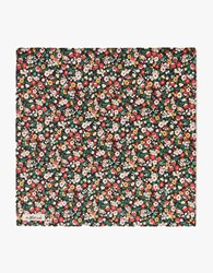 The Hill Side Pocket Square Small Flowers Print Black