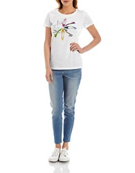 424 Fifth Petite Printed Archive Tee Pearled Ivory